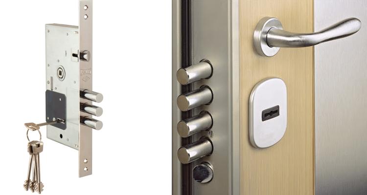 درب ضد سرقت با قفل مرکزی